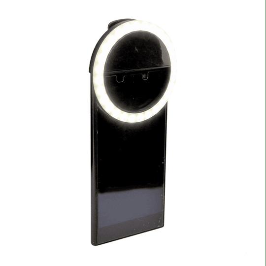 Flash LED Anillo De Luz Selfie, Recargable Para Smartphone