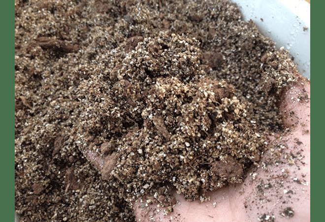 Turba rubia mezclada con arena