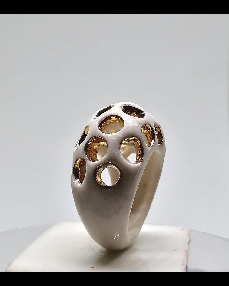 Anillo domo porcelana