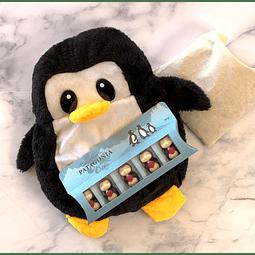 Set Pinguinito Térmico y Chocolates