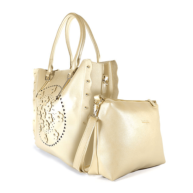 Cartera Flower Gold