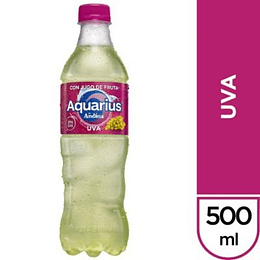 AGUA AQUARIUS UVA PET 6X500 CC
