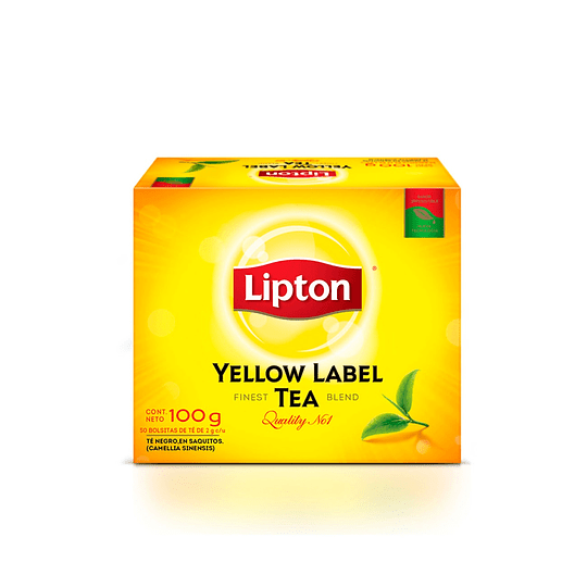 TE LIPTON YELLOW LABEL 100 BLS