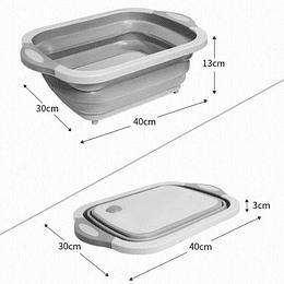 Tabla De Cortar Plegable Con Cesta Cuadrado 40x30x14 cm (plegada)