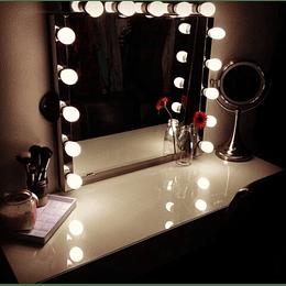 Tira de luces LED para espejo de tocador