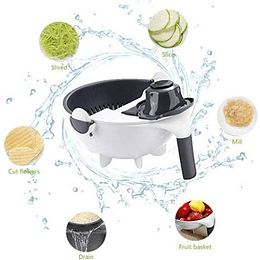 Cortador de Verdura y Frutas , con Canasto y Filtro de Agua Removible