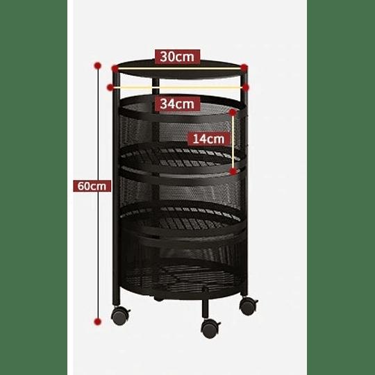 Cesta Giratoria De Metal Para Cocina 3 niveles