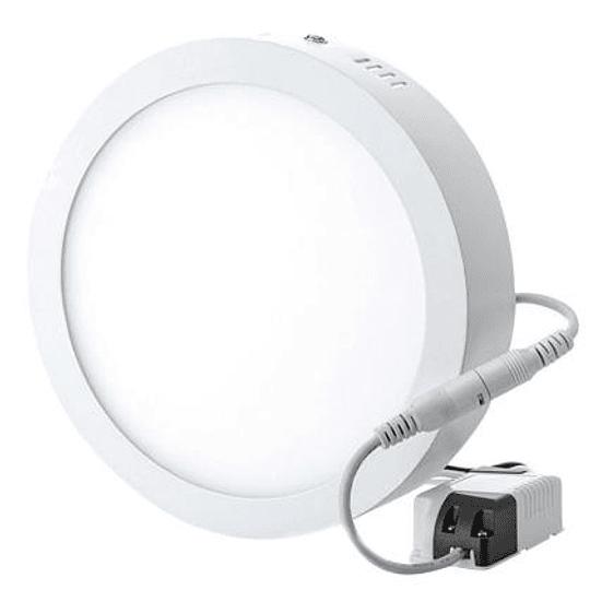 Panel LED Sobrepuesto  12w circular