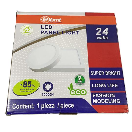 Panel LED Sobrepuesto 24w circular