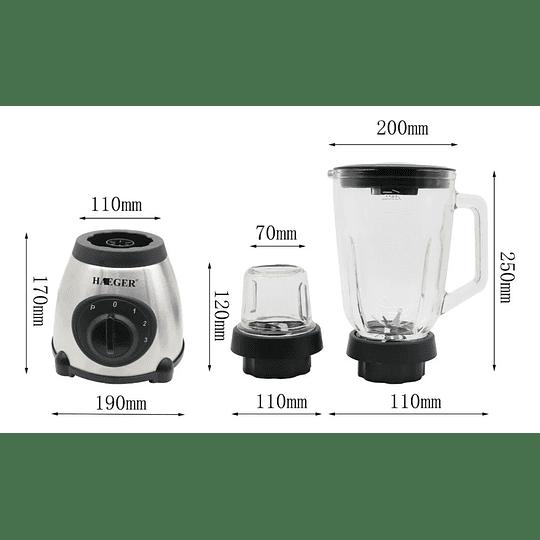 Licuadora Multifuncional + Vaso Picador HG-295