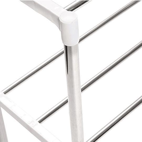 Estante de marco telescópico multifunción de acero inoxidable