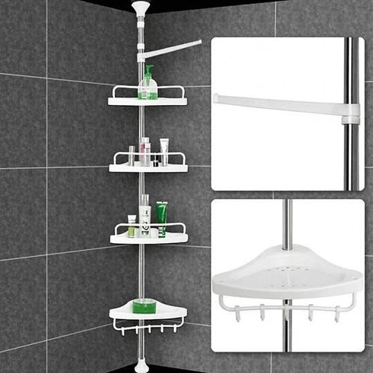 Esquinero De 4 Repisas Para Baño