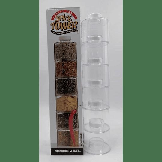 Especieros Modular Torre Para Cocina 6 Frascos