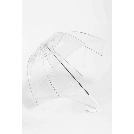 Paraguas Transparente De Burbuja Totes Estructura Metálica Mango Curvo