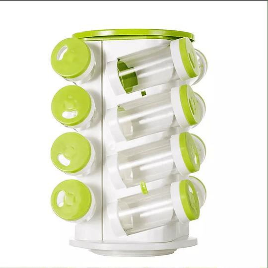Especiero giratorio organizador de condimentos para cocina 16 frascos