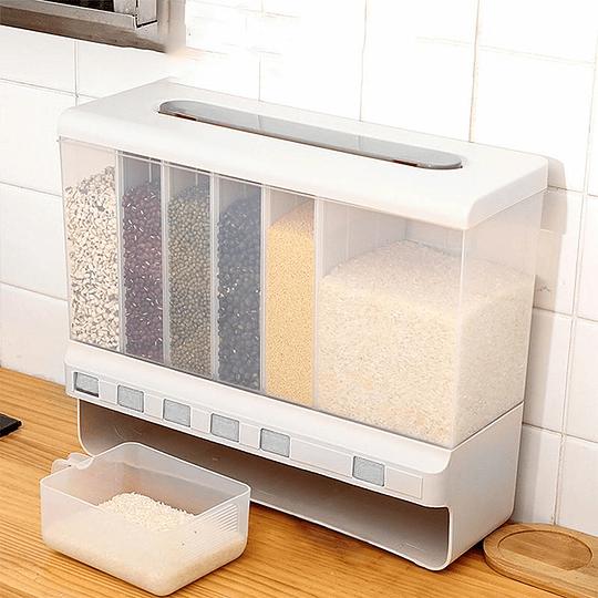 Dispensador De Semillas Y Cereal Con 6 Compartimientos