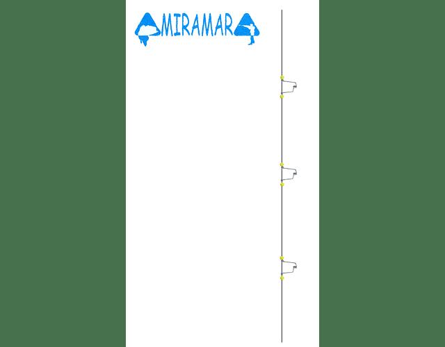 Rotor para Chicote de Pesca de Praia - Miramar