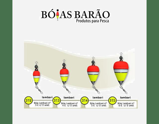 Bóia de Arremesso Barão Lambari Colorida  - 2 pçs