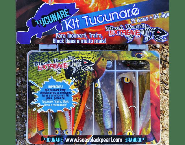 Isca Artificial Black Pearl - Kit Tucunaré