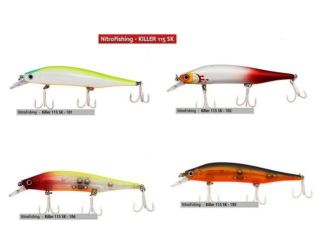 Isca Artificial Nitro Fishing - Killer 115 SK