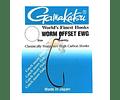 Anzol Gamakatsu - Worm Offset EWG Black