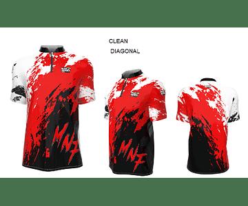 Camiseta Mar Negro Manga Curta Masc 2020 - Clean Diagonal