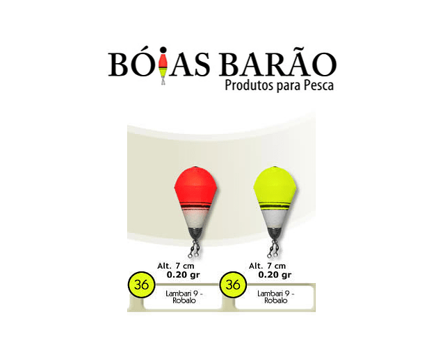 Bóia de Arremesso Barão - Lambari Robalo N°36