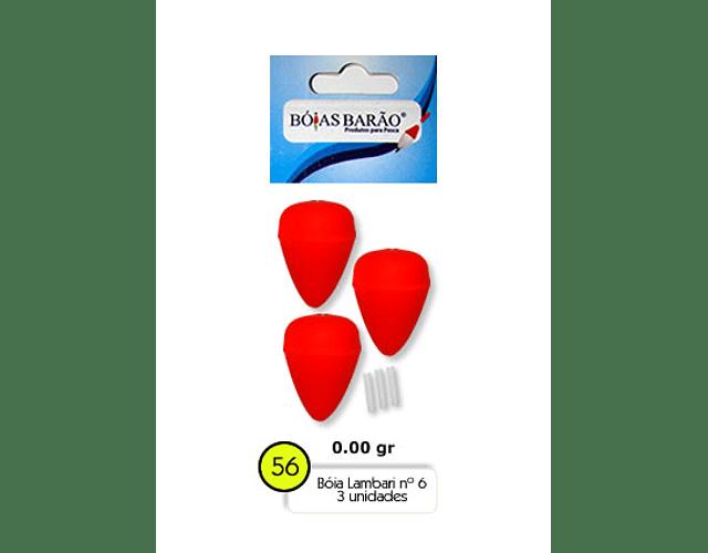 Bóia de Isopor Lambari Barão - Colorida