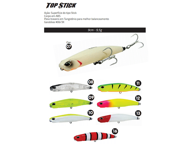Isca Artificial Yara - Top Stick