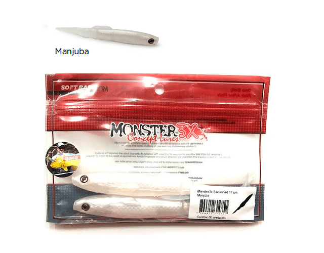 Isca Artificial Monster 3x Soft - Bacashad 17cm