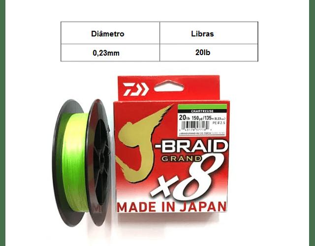 Linha de Multifilamento Daiwa J-Braid Grand X8 - Chartreuse