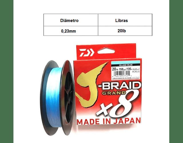 Linha de Multifilamento Daiwa J-Braid Grand X8 - Island Blue