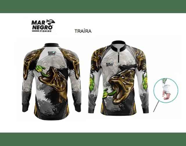 Camiseta Mar Negro Masculina Com Luvinha - G3