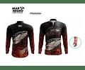 Camiseta Mar Negro Masculina Com Luvinha - G2