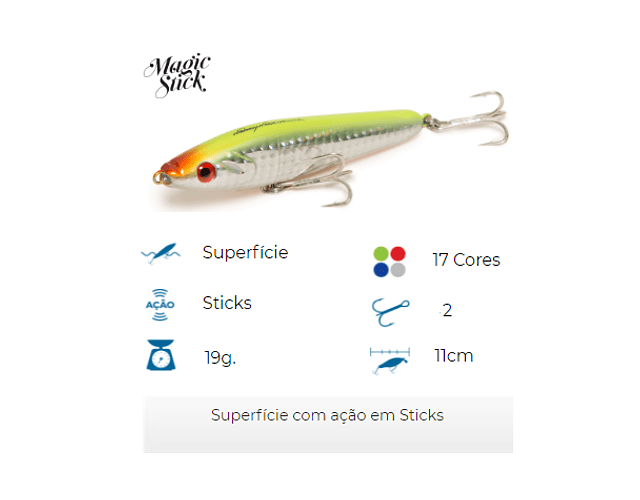 Isca Artificial Nelson Nakamura - Magic Stick 110