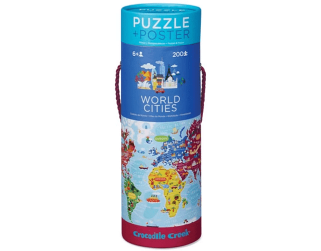 World Cities Puzzle + Poster