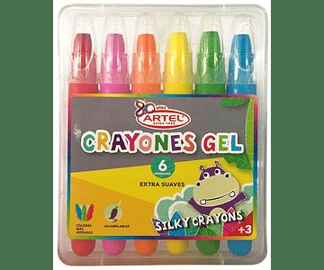 Crayones Gel 6 Un.