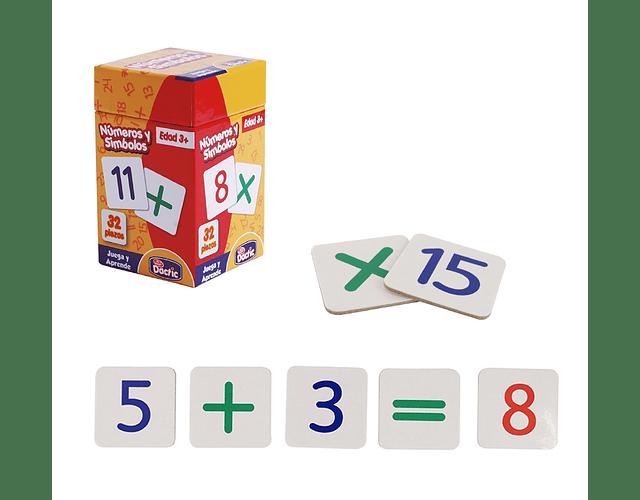 Número y Símbolo Matemático Cartón