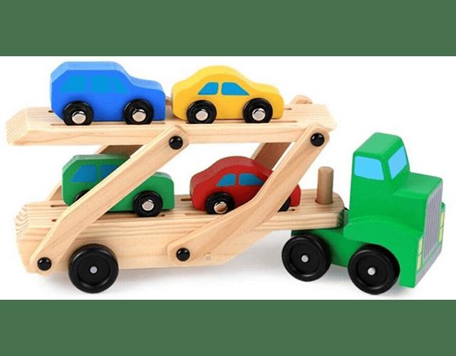 Camión con Autos Premium