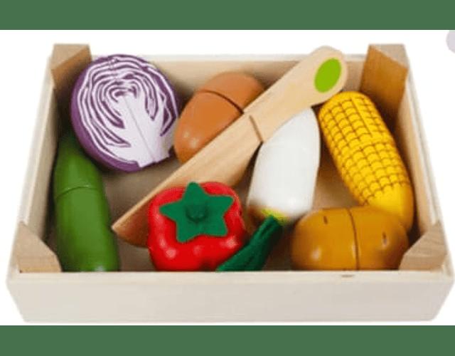 Caja Mix de Verduras Madera