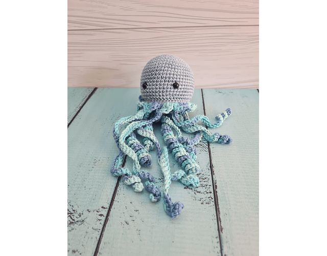 Medusa de Apego Azul-Celeste