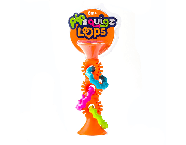 PipSquigz Loops Naranjo - Mordedores, Sonajeros Sensoriales