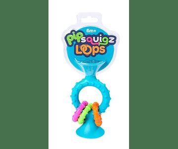PipSquigz Loops Celeste - Mordedores, Sonajeros Sensoriales