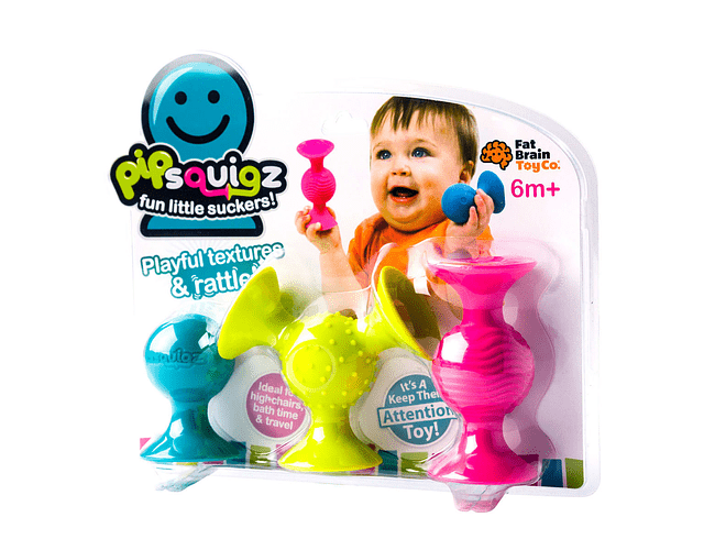 PipSquigz - Mordedores, Sonajeros Sensoriales