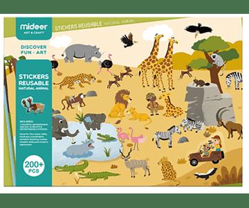 Set de Stickers Reutilizables - Animales