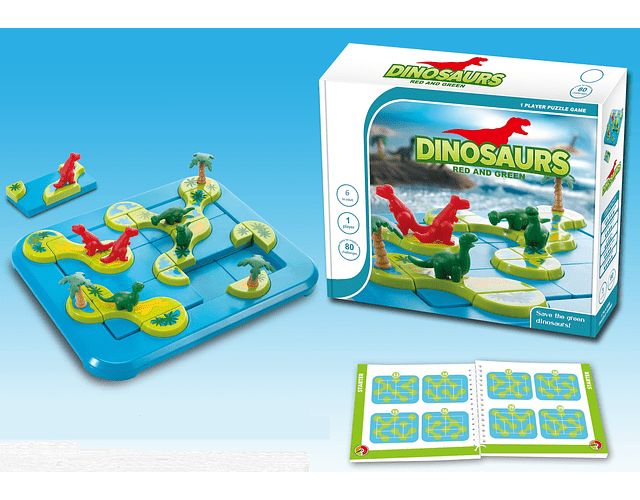 Dinosaurs Red & Green