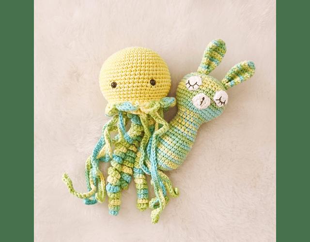 Set de Medusa + Sonajero Verde/Amarillo