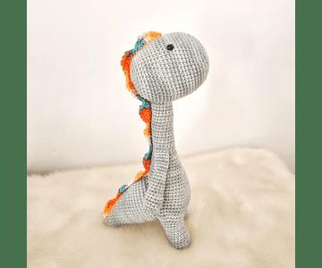 Amigurumi - Dinosaurio Gris