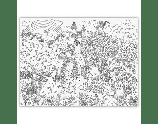 Giant Coloring Poster - Jardín de Unicornios
