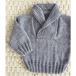 Sweater cuello vuelto Celeste Superwash